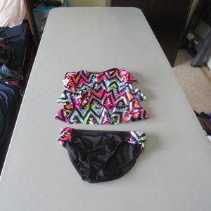 Multi Color Justice Tankini Swimsuit Size 12